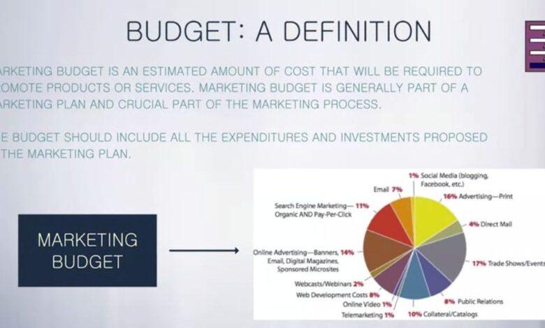 The Marketing Plan budget